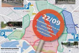 Dónde aparcar en Palma en el Día sin Coches tras prohibirlo en la ORA