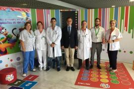 Son Espases instala una zona de juegos educativos en las consultas de Pediatría