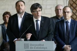 Carles Puigdemont difunde una web para consultar los colegios electorales del 1-O