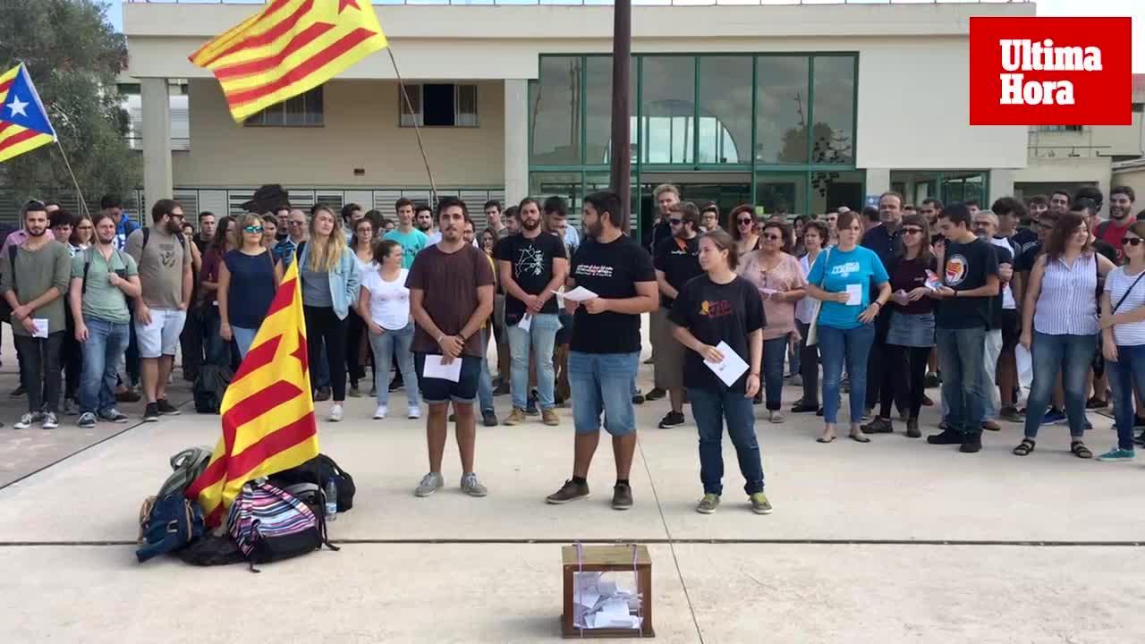 Apoyo en la UIB al referéndum independentista en Cataluña