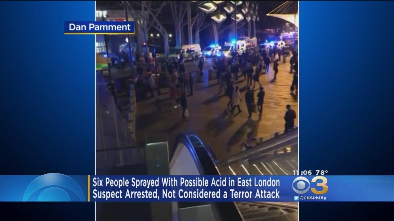 Seis heridos en un posible «ataque con ácido» en Londres
