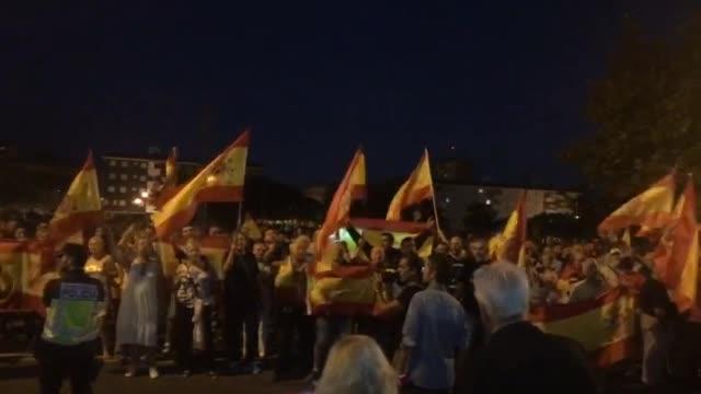 Manifestación de apoyo a la Guardia Civil frente a la Comandancia de Palma