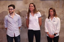 El Govern homenajea a los deportistas Joan Reinoso, Paula Barceló y Sílvia Mas