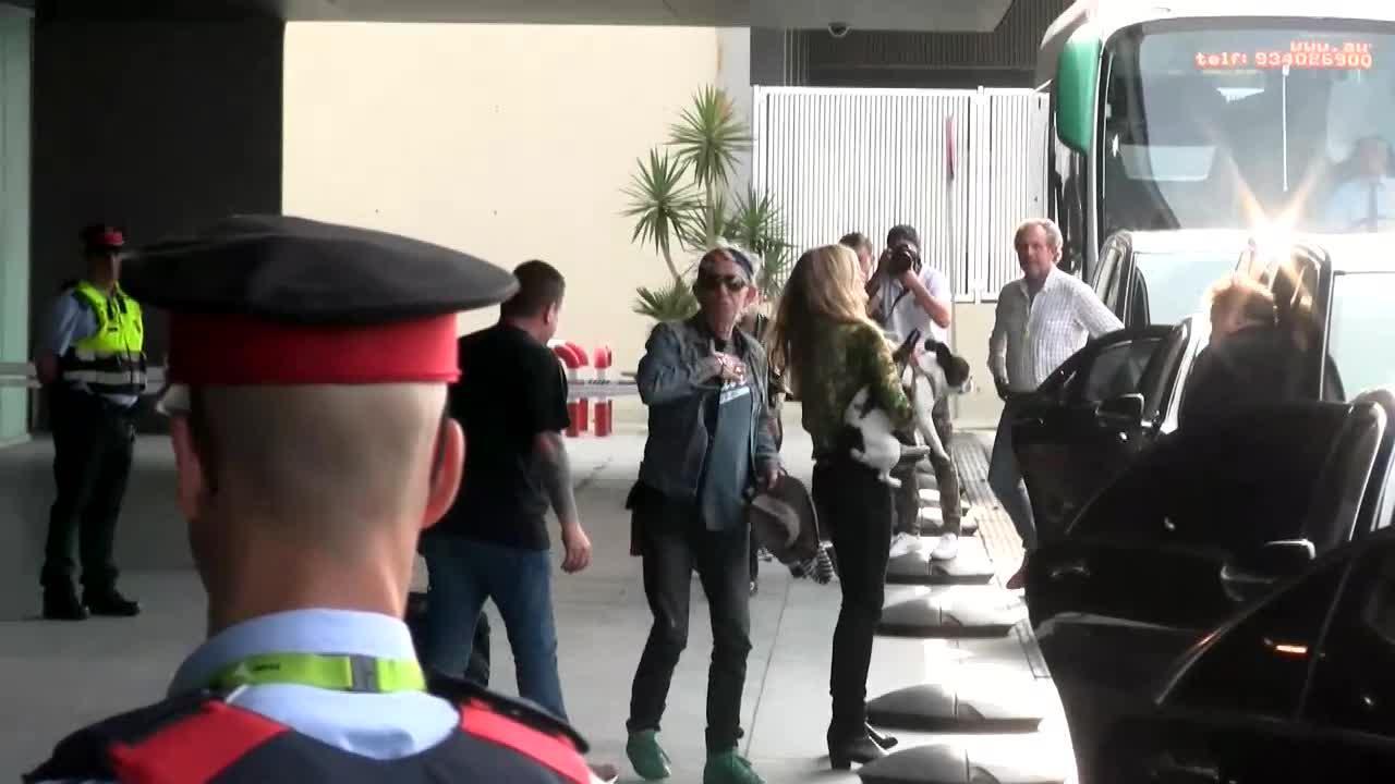 The Rolling Stones ya están en Barcelona y actúan este miércoles en el Estadi Olímpic