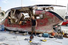 «Mi velero era también mi casa y con el naufragio en Portals lo he perdido todo»