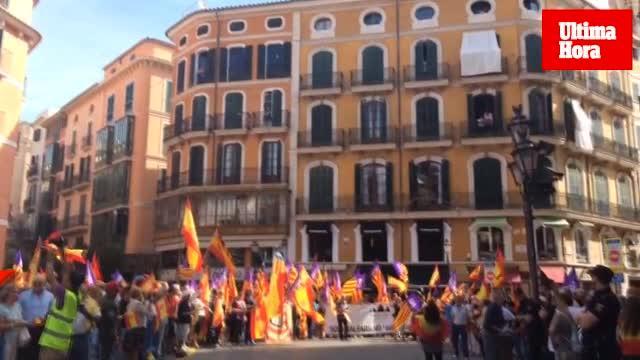 Concentración en Palma a favor de la unidad de España