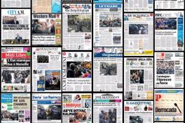 Las cargas policiales en Cataluña, imagen de portada en la prensa europea