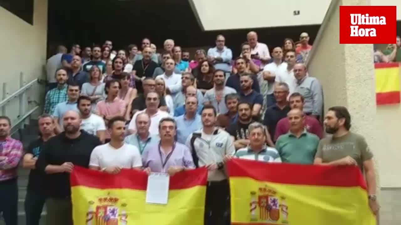 La Policía Nacional se concentran en Palma «contra el acoso» de los agentes en Cataluña