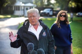 Trump evita hablar del control de armas y atribuye el tiroteo de Las Vegas a «un demente»
