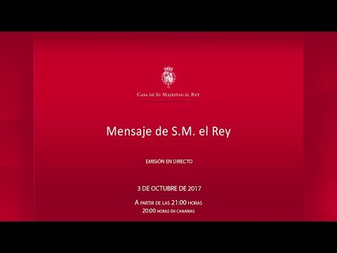 Duro mensaje televisado del rey Felipe VI contra las instituciones catalanas tras el referéndum independentista