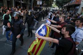 La CUP denuncia en los juzgados el «intento de asalto» de la Policía a su sede