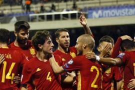 España se exhibe ante Albania y certifica su billete para el Mundial de Rusia