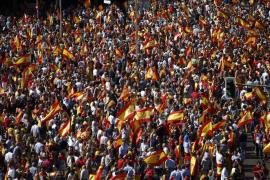 Multitudinaria concentración en la plaza Colón de Madrid en defensa de la unidad de España