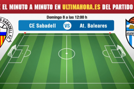 Sabadell-Atlético Baleares, en vivo