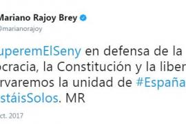 '#RecuperemElSeny', reacciones a favor de la unidad de España
