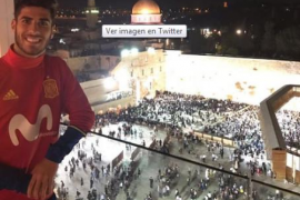 Marco Asensio indigna a los palestinos con un tuit desde Jerusalén