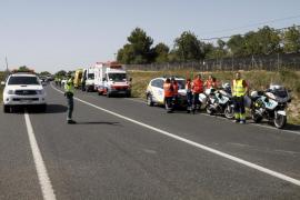 Una mujer de 57 años muere en un choque frontal en la carretera de Llucmajor a Campos