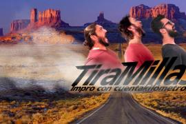 Trampa Teatre 'Tira millas' en su improvisación teatral en Sala Trampa
