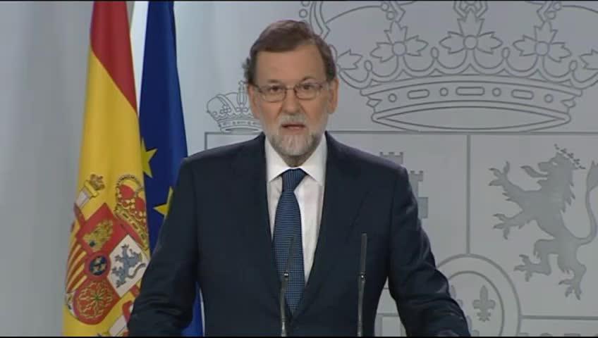 El Gobierno abre la vía del artículo 155 y requiere a la Generalitat que confirme si ha declarado la independencia