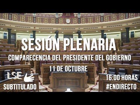 En directo, Rajoy comparece en el Congreso para informar de la posición del Gobierno sobre Cataluña