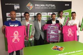 El Palma Futsal se viste de color rosa contra el cáncer