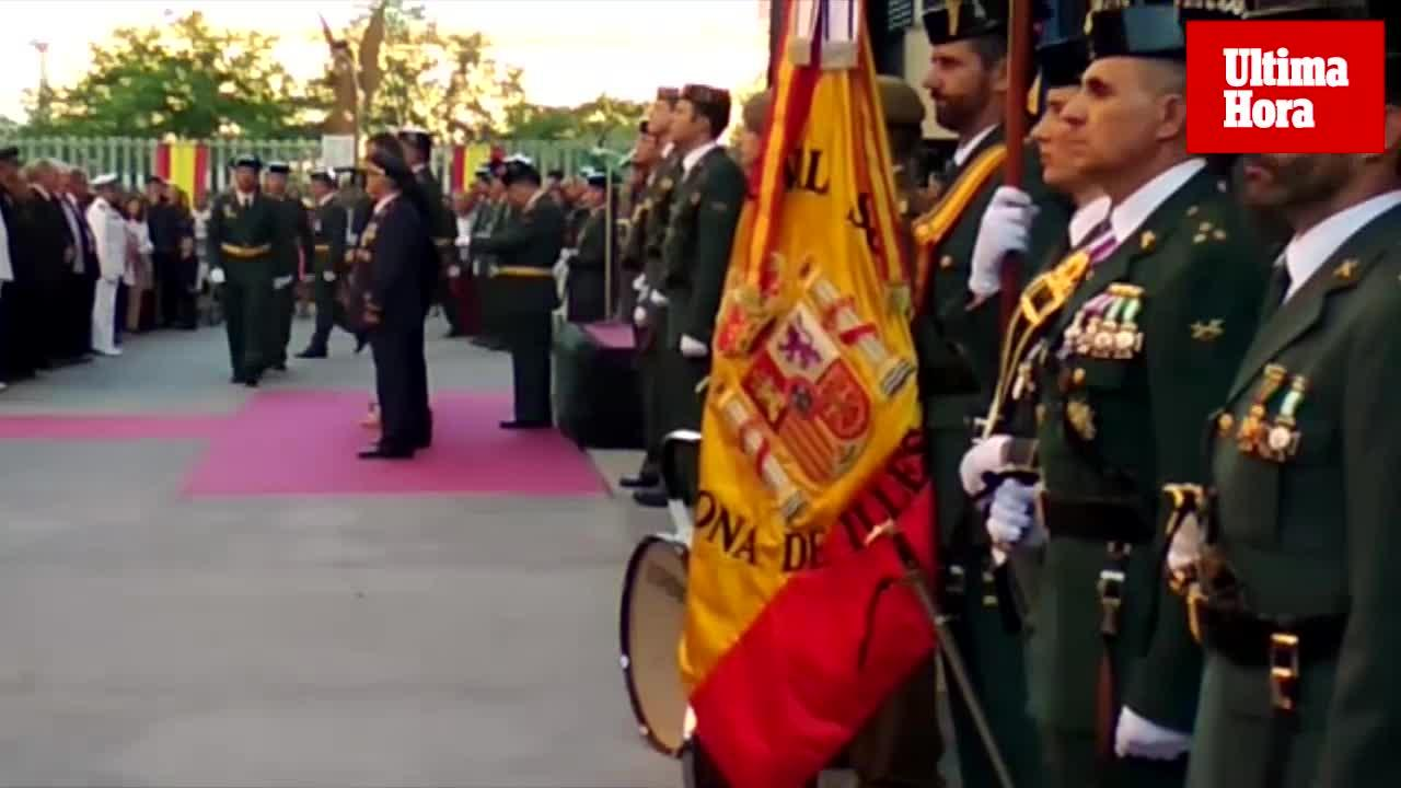 El Coronel Jefe de la Guardia Civil en Baleares recuerda a los «compañeros de Cataluña» durante la Festividad del Pilar