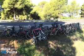 Recuperadas 21 bicicletas y un ciclomotor de «dudosa procedencia» en Can Pastilla