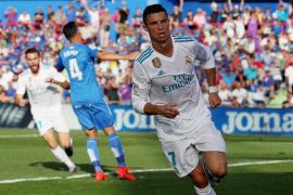 Cristiano salva al Madrid en Getafe