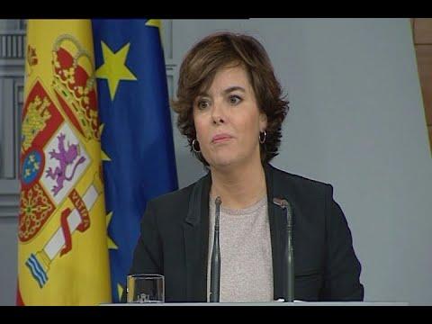 En directo, comparecencia de Sáenz de Santamaría tras recibir la carta de Puigdemont