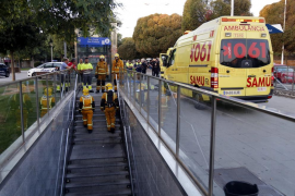 Queda restablecido el servicio de trenes tras el incendio de un vagón en Palma