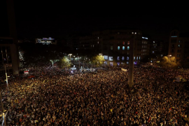 Unas 200.000 personas se concentran en Barcelona para pedir la libertad de Sànchez y Cuixart