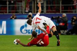 El Sevilla sale goleado de Moscú y queda relegado a la tercera plaza del grupo
