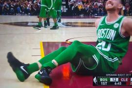Los Celtics pierden a Gordon Hayward tras una escalofriante fractura de tobillo