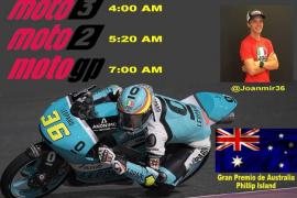 Nueva oportunidad para ver en el Palma Arena a Joan Mir coronarse en Moto3