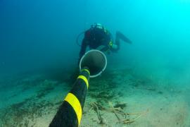 La instalación del cable eléctrico submarino entre Balears y la Península terminará esta semana
