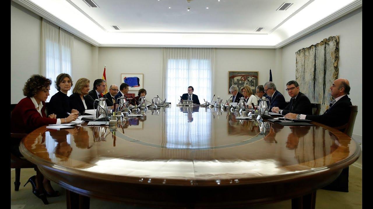 Rajoy, amparado en el artículo 155, pide cesar al Gobierno de Cataluña, disolver el Parlament catalán y convocar elecciones