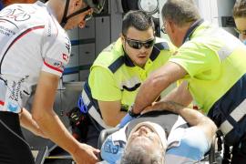 Un ciclista, herido muy grave al chocar contra una camioneta en un camino de s'Hostalot