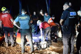 Laborioso rescate de un hombre que tropezó con su perro y se rompió la cadera en Calvià