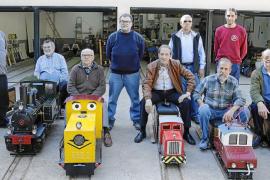 El Club Ferroviari Vaporista de Mallorca ultima su parque a escala en Marratxí