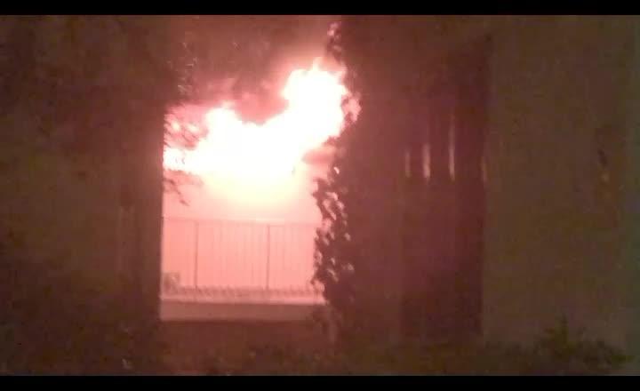 Incendio en un bloque de apartamentos en Santa Ponça