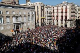 Concentraciones de protesta en Barcelona ante la posible convocatoria de elecciones