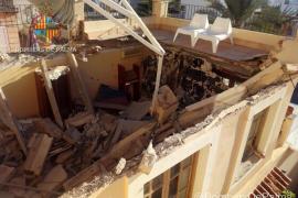 Un primer piso de la calle Joan Miró de Palma se derrumba sin dejar personas heridas