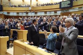 El Senado aprueba la aplicación del 155 en Cataluña por 214 votos a favor