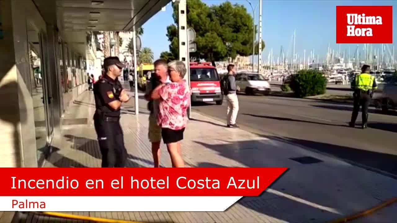 Desalojan a los clientes de un hotel del Passeig Marítim de Palma a causa de un incendio