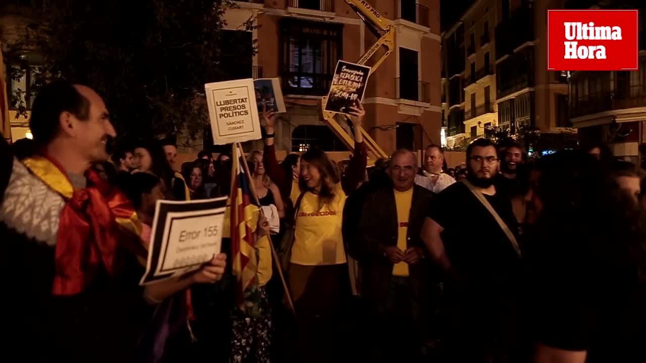 Más de 200 personas se concentran en Palma en rechazo a la aplicación del artículo 155