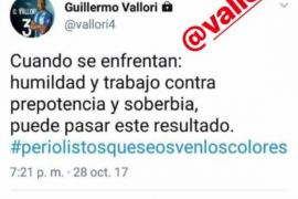 Lío en las redes sociales entre Vallori y Raíllo
