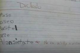 El dictado viral de un alumno de 7 años