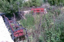 Abandono de los paseos peatonales de Calvià