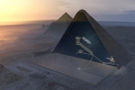 Descubren una nueva cámara en la pirámide de Keops gracias a la física de partículas