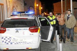 Siete jóvenes detenidos tras una pelea multitudinaria en la calle Manacor de Palma